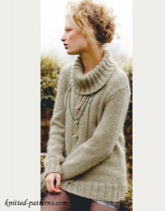 Women's sweater knitting pattern free