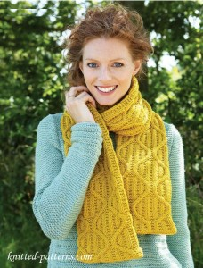 Women's scarf knitting pattern free