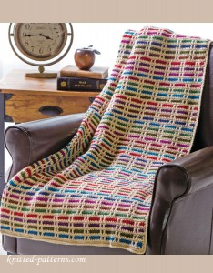 Stripes throw crochet pattern free