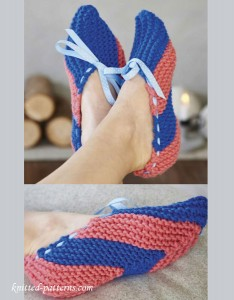 Women's slippers knitting pattern free
