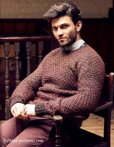 Men's pullover knitting pattern free