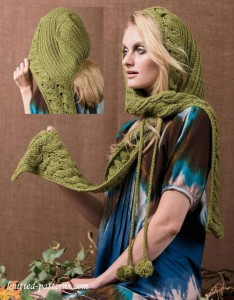 Crochet hooded scarf pattern free