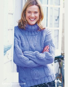 Cable sweater knitting pattern free