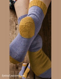 Afterthought heel knitting socks