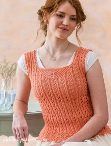 Camisole knitting pattern