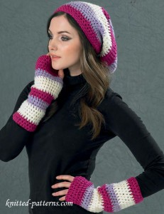 Slouch hat and mitts