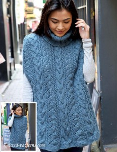 Free womens ponchos knitting patterns cabled poncho knitting pattern dt1010fo