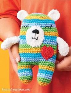 Crochet Rainbow Teddy Bear | 300x230