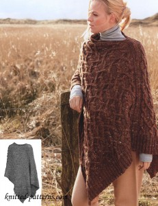 Free Women S Ponchos Knitting Patterns
