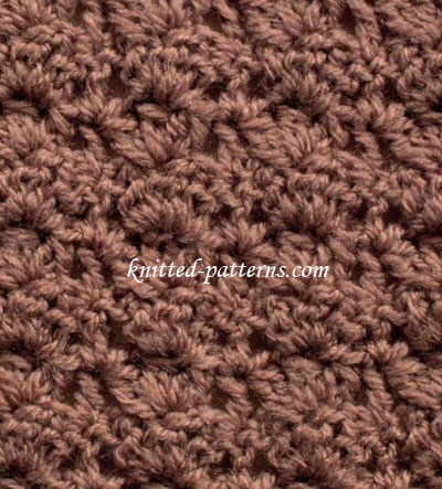 Clustered Shells - Crochet Stitch