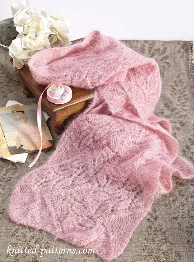 Leafy Lace Mohair Scarf
