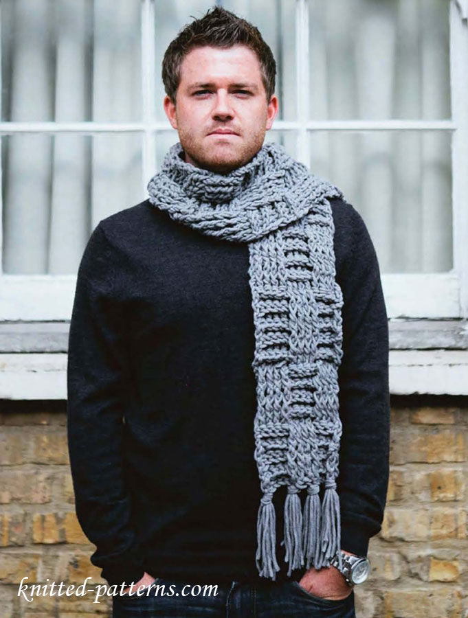 Men S Scarf Free Crochet Pattern