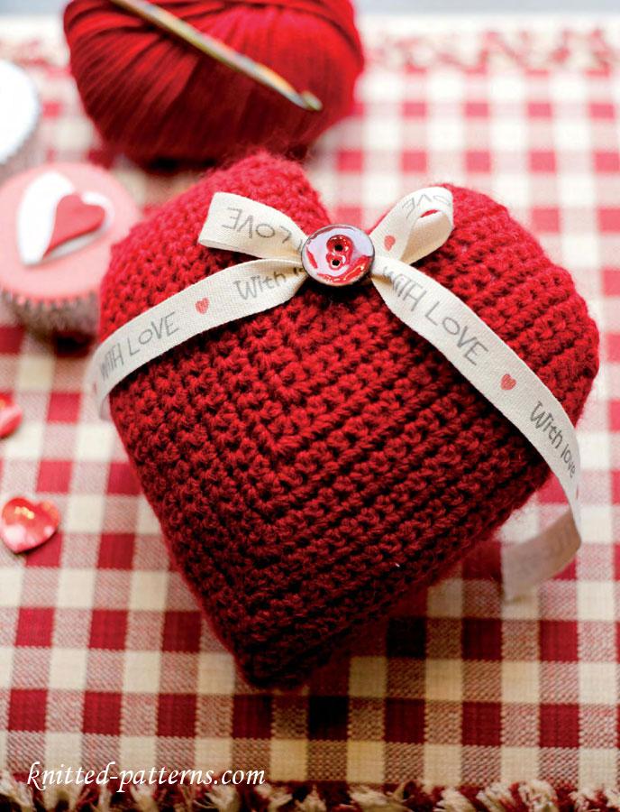 Lavender Heart Sachet Crochet