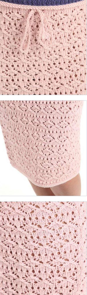 Knitting Yrn P2tog : Lace skirt