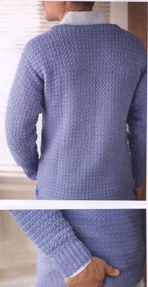 Men S V Neck Sweater Free Crochet Pattern