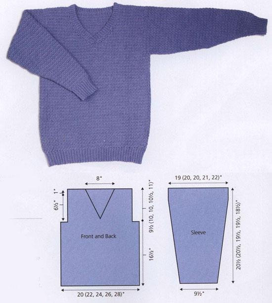 dd81148717c0 Men s v-neck sweater free crochet pattern