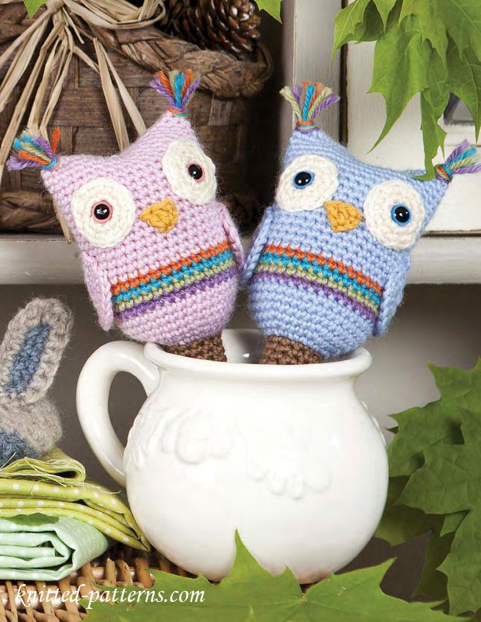 Crochet Owl Baby Rattle Free Pattern