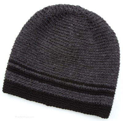 Men\'s beanie free crochet pattern