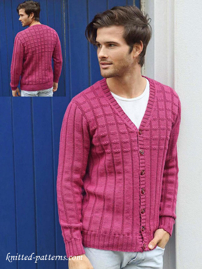 Men S Jacket Knitting Pattern Free