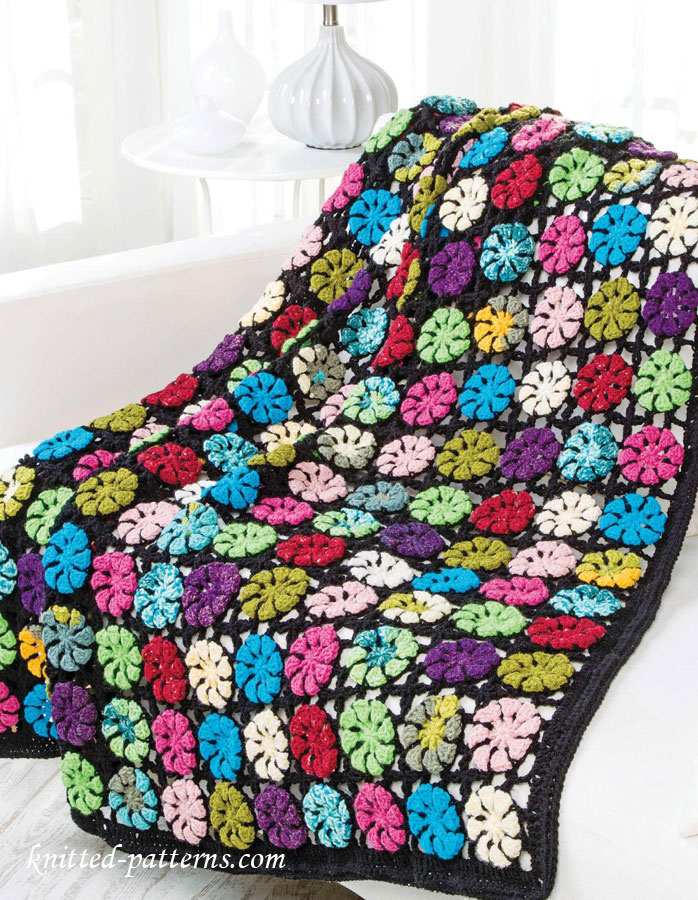 Floral Motif Afghan Crochet Pattern Free