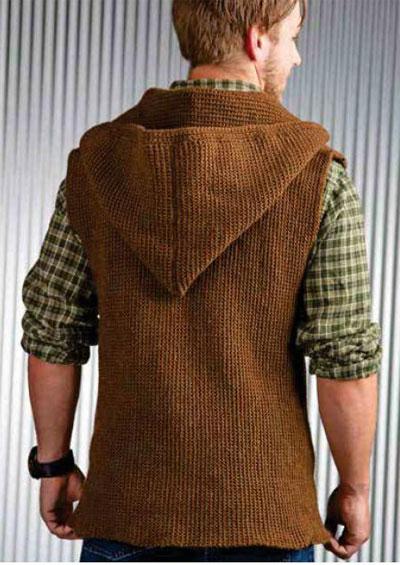 Knitting Men S Vest Free Pattern : Men s sleeveless jacket crochet pattern free
