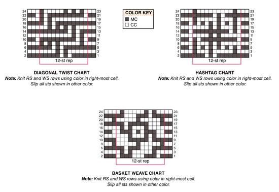 Mosaic squares knitting pattern free