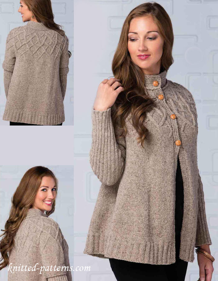 Craft Passions: Lady's beautiful top down cardigan #Free# ...