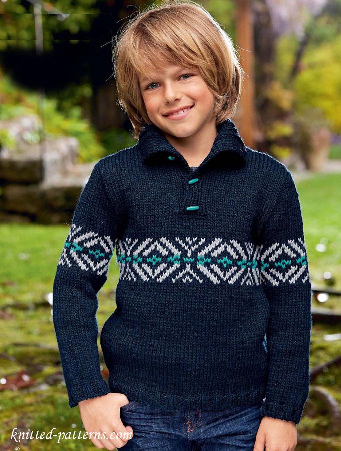 Boy S Sweater Knitting Pattern Free