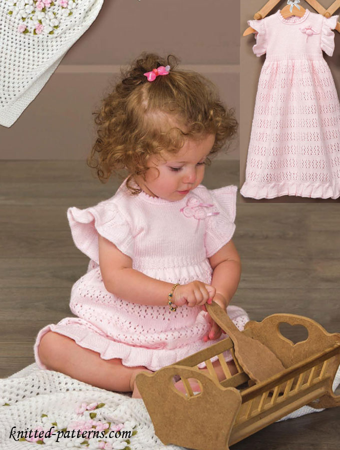Baby Dress Knitting Pattern Free