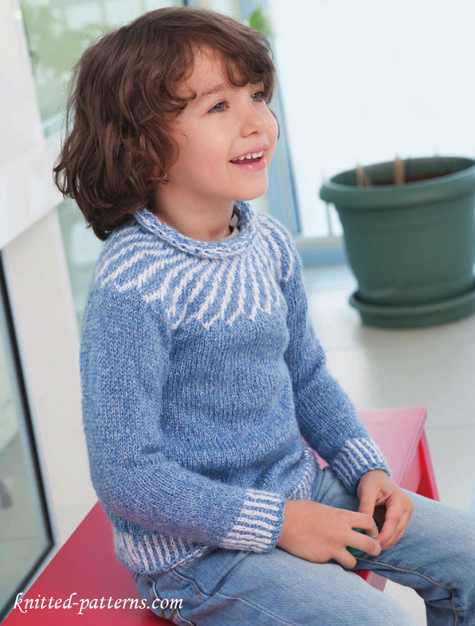 Child's yoke sweater knitting pattern free