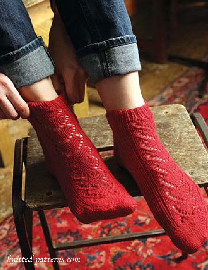 Lace Socks Knitting Pattern Free