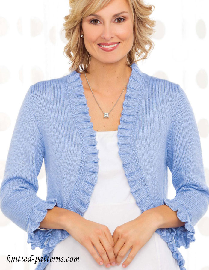 Classic Cardigan Knitting Pattern Free