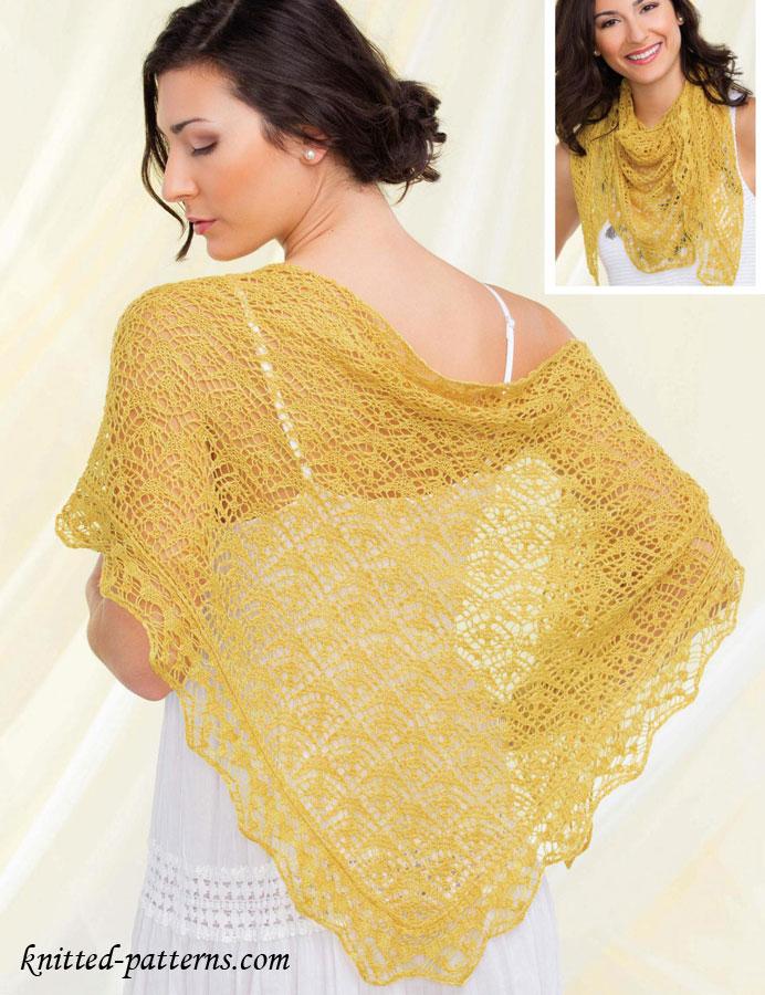 Shetland Lace Shawl Knitting Pattern Free