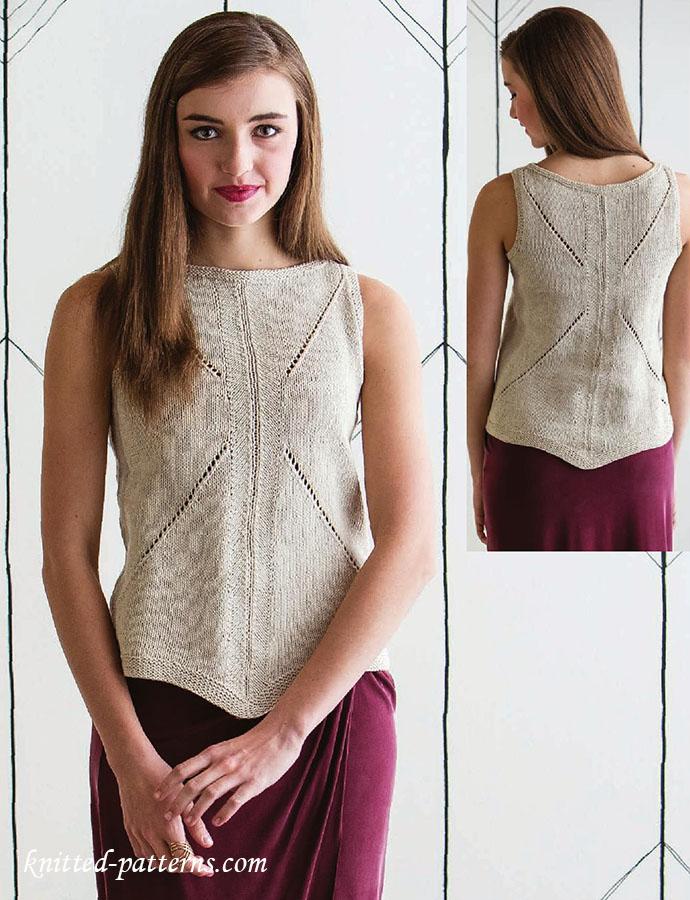 Womens Tank Top Knitting Pattern