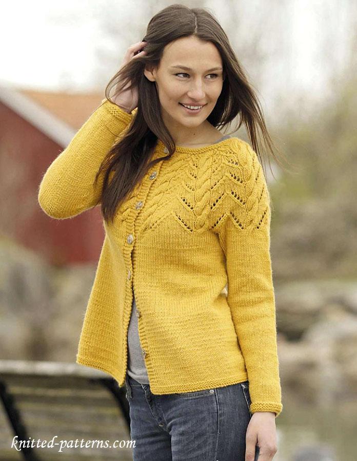 f12bbc7e9 Yoke cardigan knitting pattern