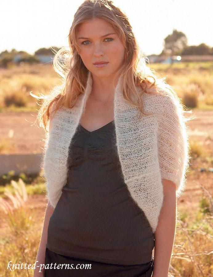 Mohair shrug knitting pattern