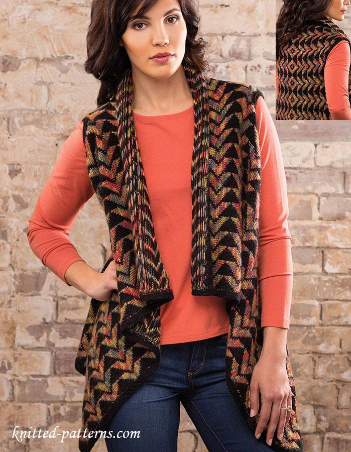 Colorwork Vest Knitting Pattern
