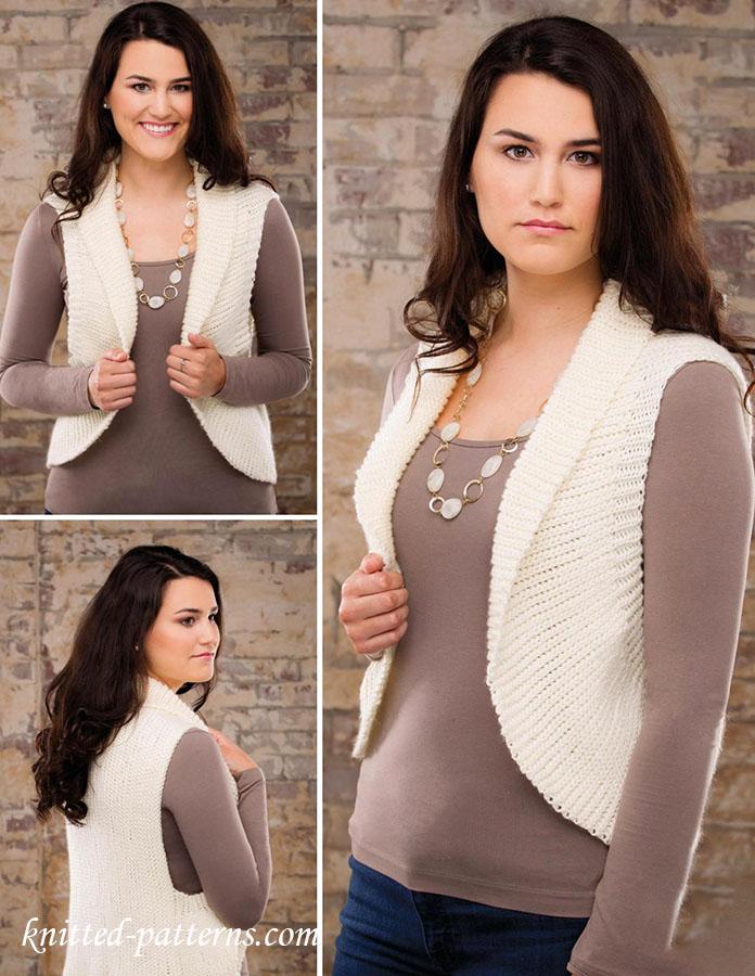 Short Row Slip Stitch Crochet Vest