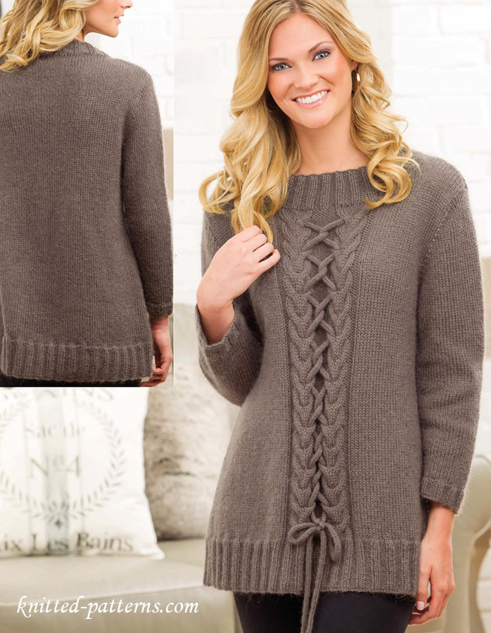 Womens Tunic Knitting Pattern