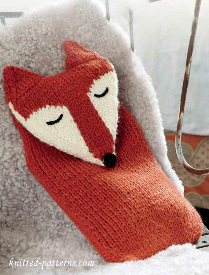 Knitted Hot Water Bottle Cover