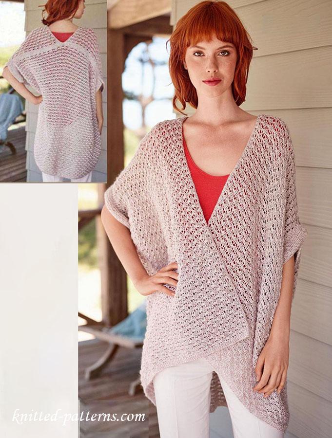 Oversized shrug knitting pattern