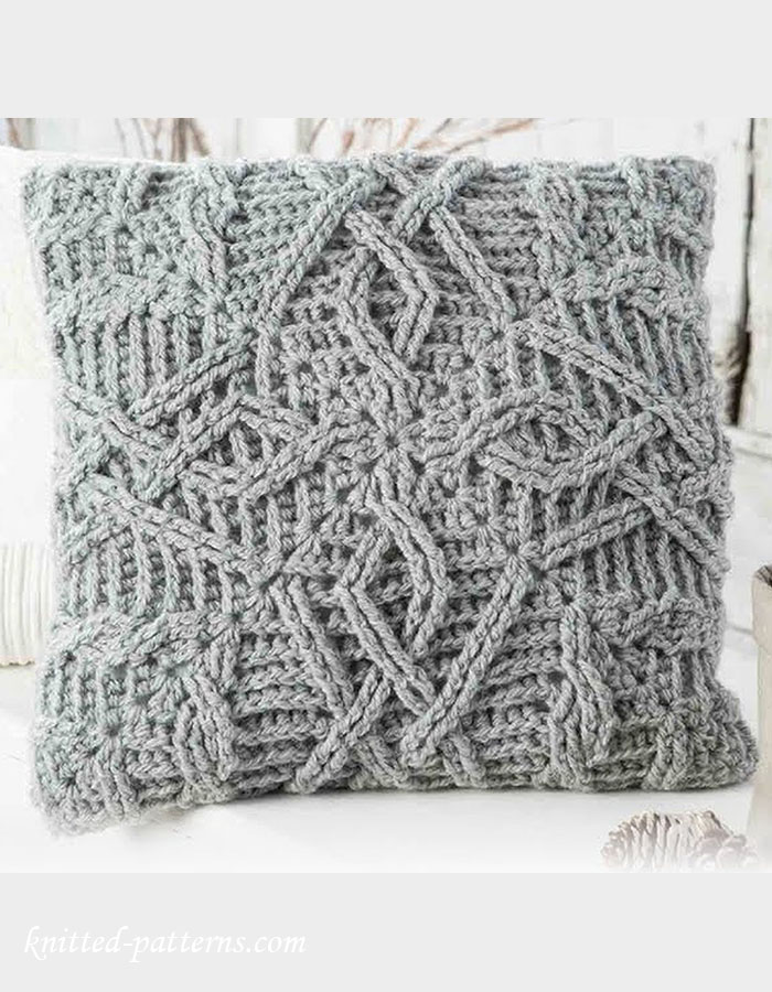 Cable Crochet Pillow Pattern