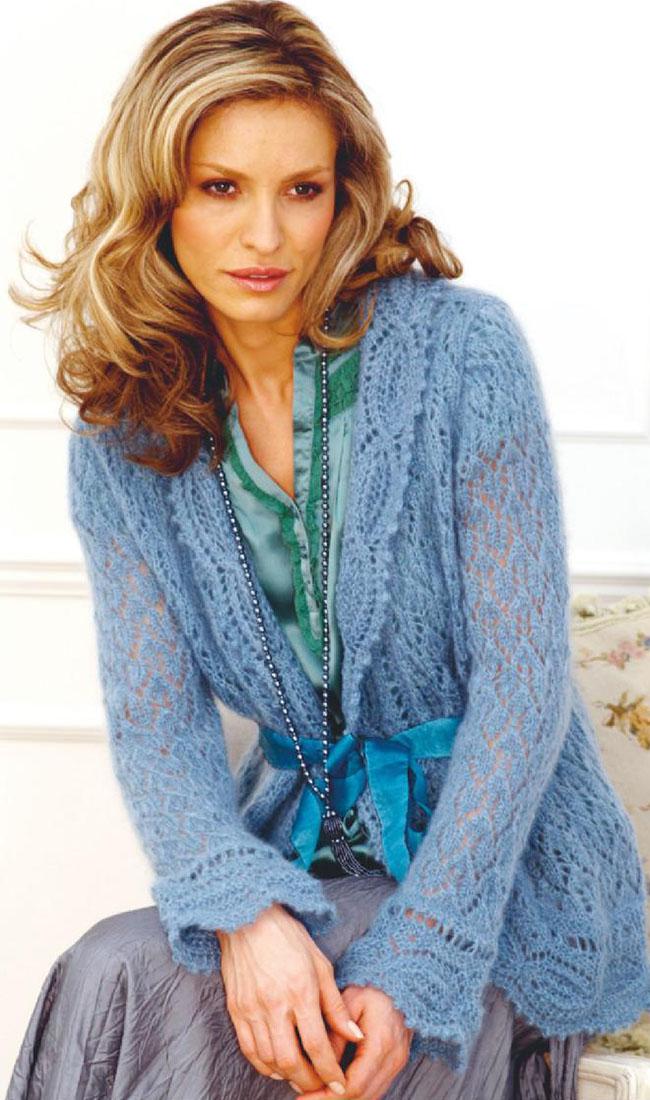 Knitting Pattern Website : Lace cardigan knitting pattern