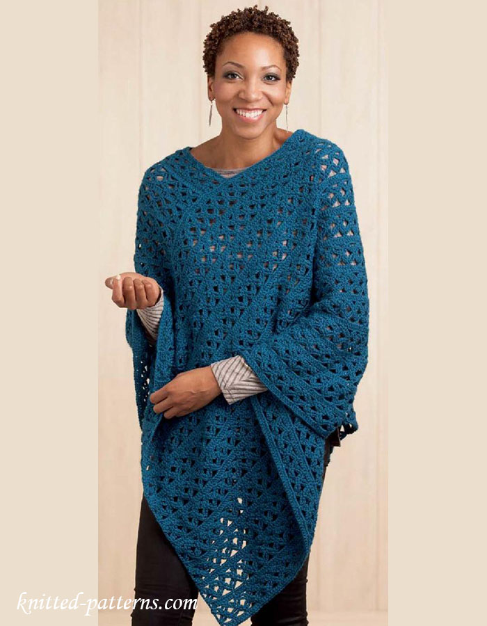 Lace Poncho Crochet Pattern
