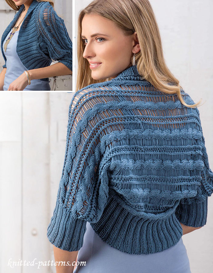 Summer shrug knitting pattern