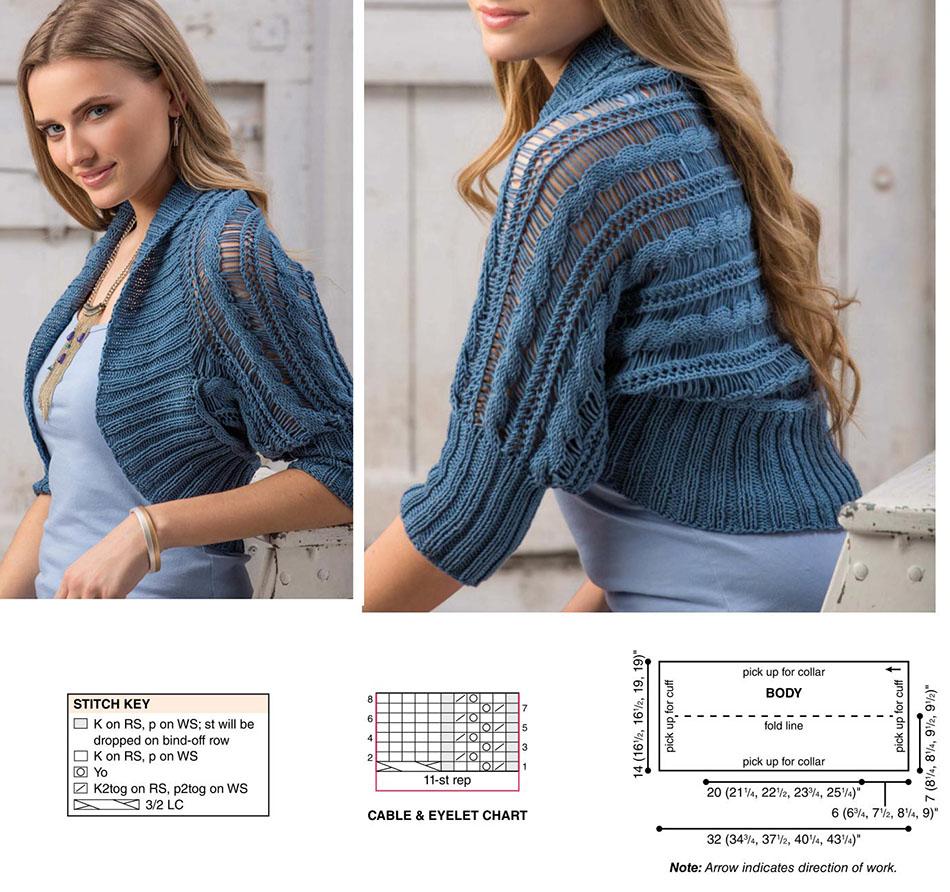 Colorful Summer Shrug Knitting Pattern Vignette - Blanket Knitting ...