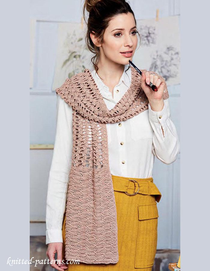 Long Lace Scarf Crochet Pattern