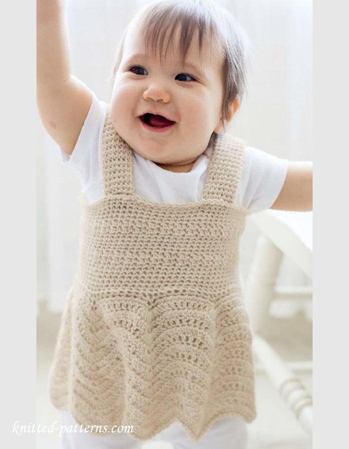 Little girl\'s jumper top crochet pattern