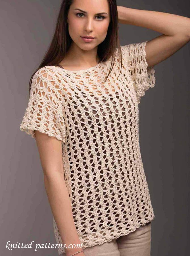 Free crochet pattern lace top