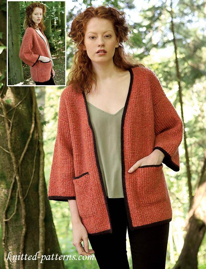 Free Knitting Pattern Kimono